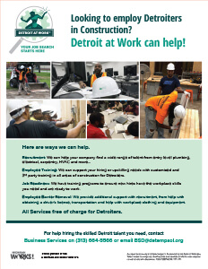 Looking to employ Detroiters in Construction