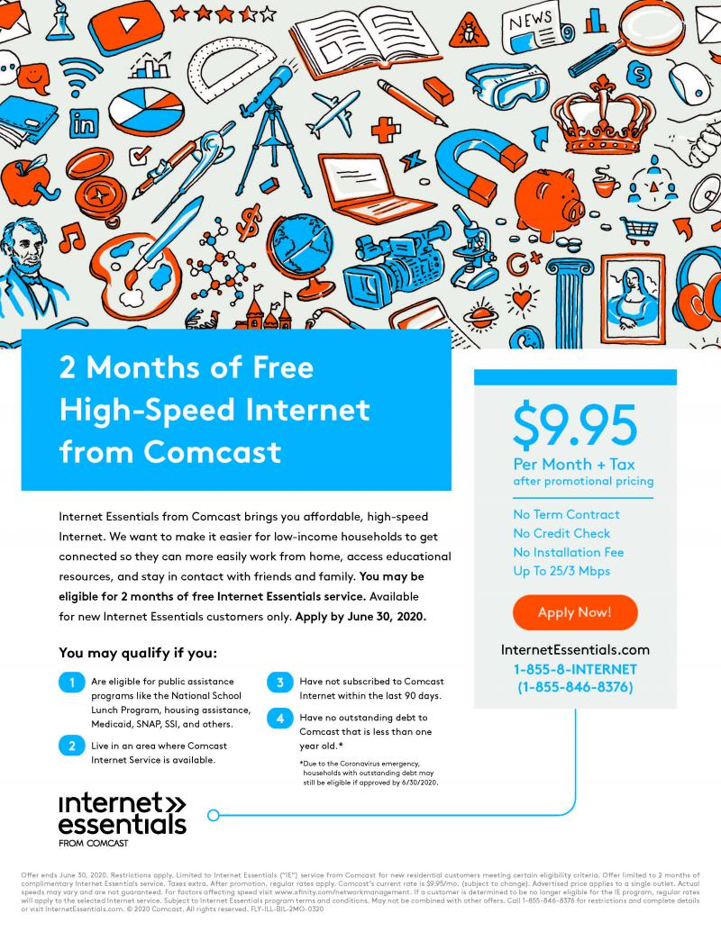 Updated Comcast Web Access Flyer for Detroiters April 30 2020